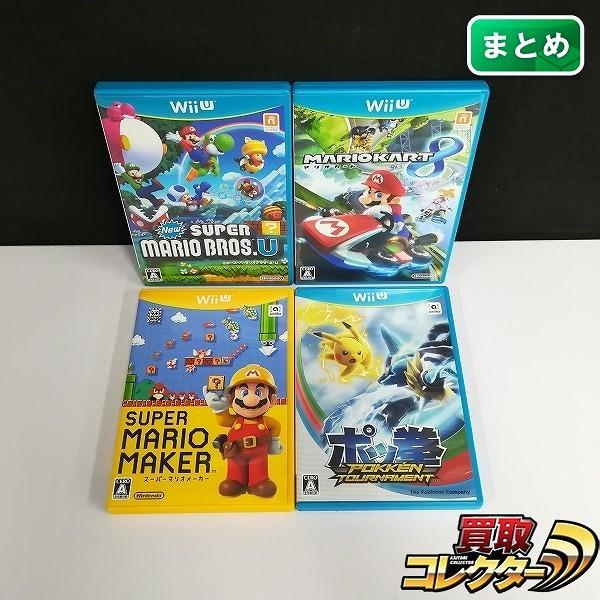 Wii U ソフト NewスーパーマリオブラザーズU スーパーマリオメーカー ポッ拳 POKK?N TOURNAMENT 他_1