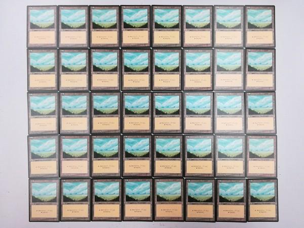 MTG 基本土地 平地 Plains 日本語版 計120枚 第4版 黒枠 絵柄3種_2