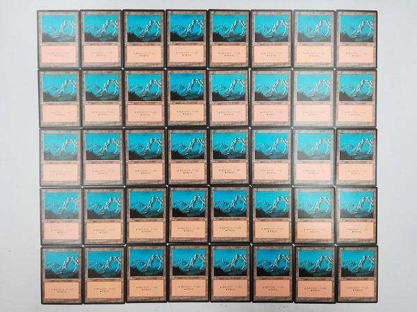 MTG 基本土地 山 Mountain 日本語版 計120枚 第4版 黒枠 絵柄3種_2