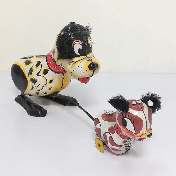 三国 ブリキ ゼンマイ 仔犬を追いかける犬 1960年代 日本製_2