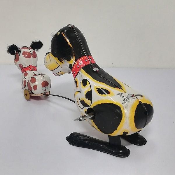 三国 ブリキ ゼンマイ 仔犬を追いかける犬 1960年代 日本製_3