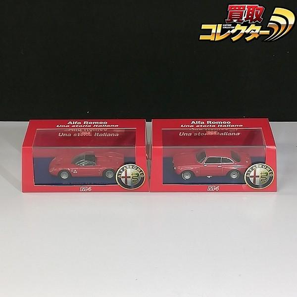 M4 1/43 アルファロメオ GTAm 1970 + アルファロメオ 33.2 Fleron 1697 Prova