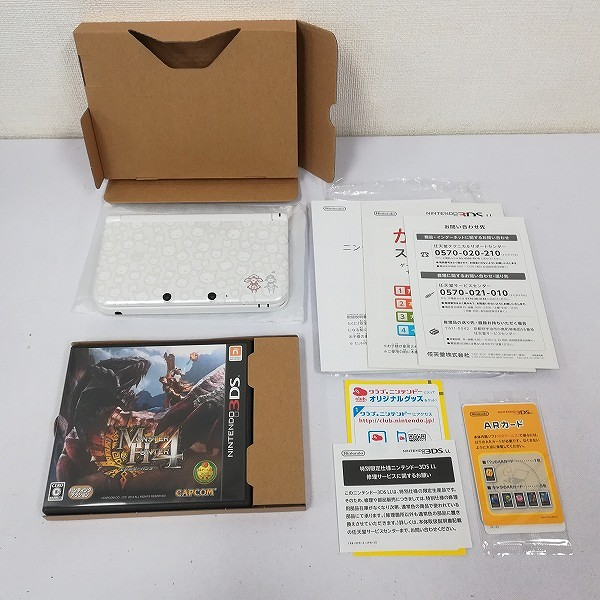 ニンテンドー 3DS LL モンスターハンター4 スペシャルパック アイルーホワイト_2