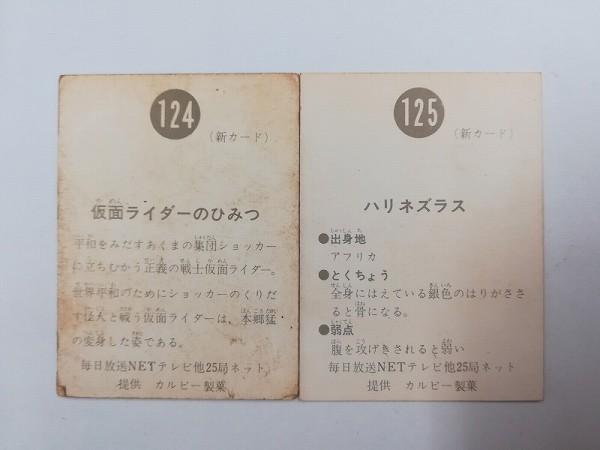 カルビー 旧 仮面ライダー カード スナック No.124 No.125 新明朝_2