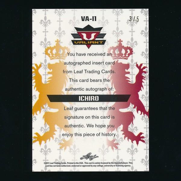LEAF VALIANT DRAFT 2011 イチロー 直筆 サイン カード 3/5_3