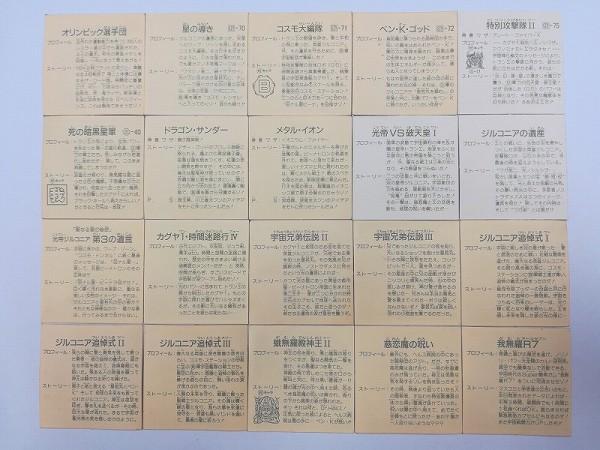 ガムラツイスト シール 10弾 20枚 オリンピック選手団 コスモ大編隊 他_2