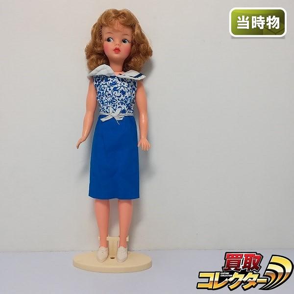 IDEAL アイデアル タミーちゃん 青いワンピース スタンド付き