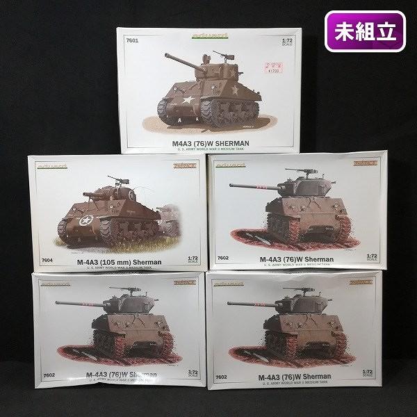 エデュアルド 1/72 7601 M4A3(76)W 7602 M4A3(76)W プロフィパック 7604 M4A3(105mm) プロフィパック
