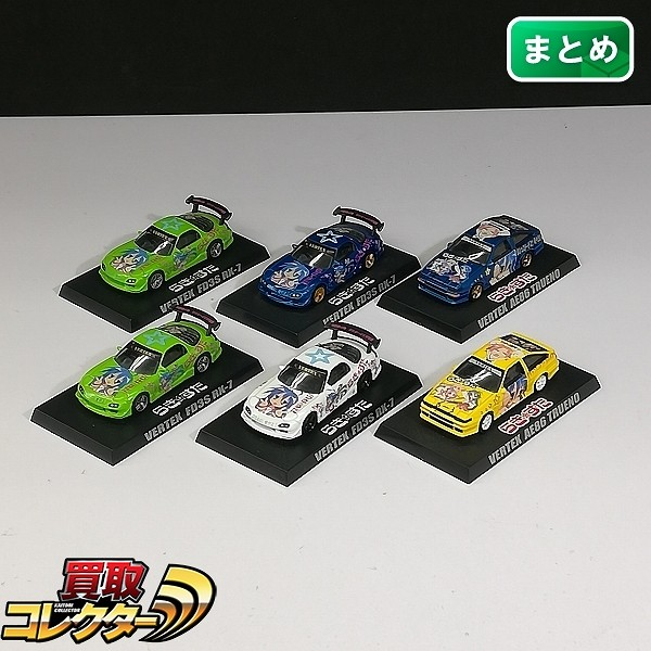 アオシマ 1/64 らき☆すた 痛車ミニカーコレクション VERTEX AE86 TRUENO FD3S RX-7_1