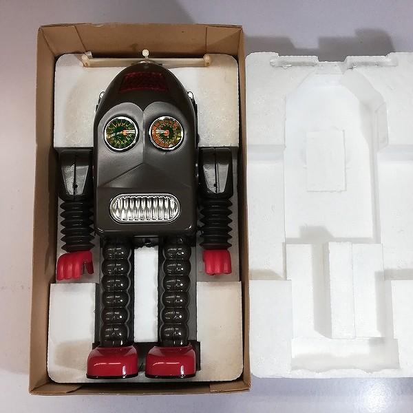 HAHA TOY 復刻版 サンダーロボット ブリキ 電動 本体全高約29cm_2