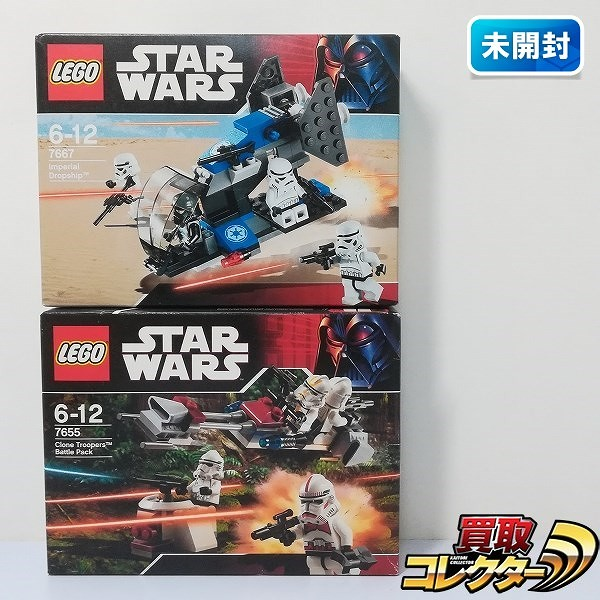 レゴ スター・ウォーズ 7655 クローントルーパー バトルパック 7667 インペリアル・ドロップシップ_1