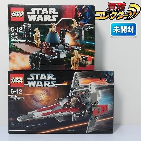 レゴ スター・ウォーズ 7654 ドロイド・バトルパック 6205 V-ウイングファイター_1