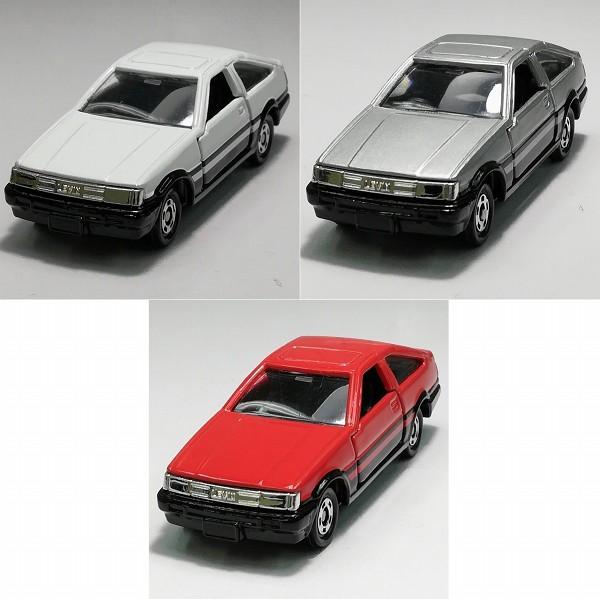 TAM特注 トミカ カローラレビンAPEX AE86 3種 レッド ホワイト グレー_2