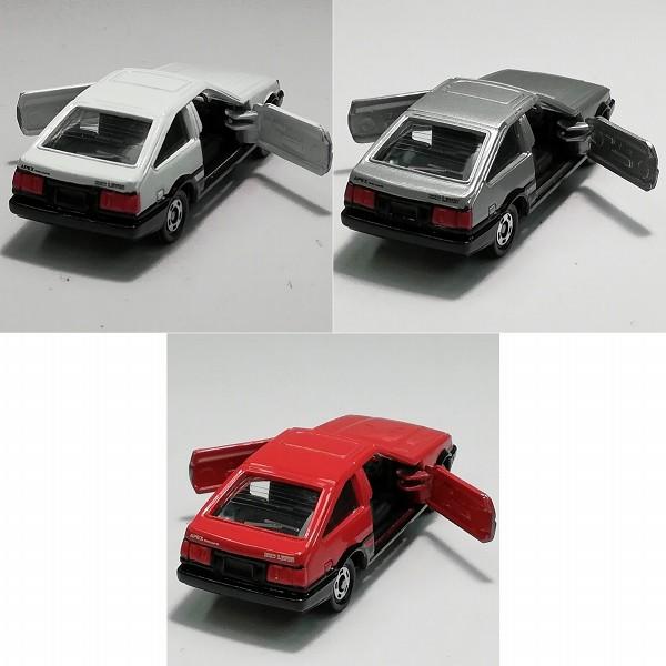 TAM特注 トミカ カローラレビンAPEX AE86 3種 レッド ホワイト グレー_3
