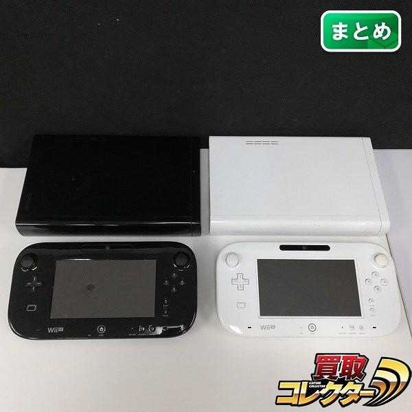 Nintendo Wii U 本体 + ゲームパッド 白 黒_1
