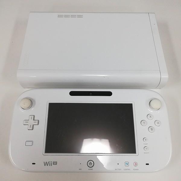 Nintendo Wii U 本体 + ゲームパッド 白 黒_3