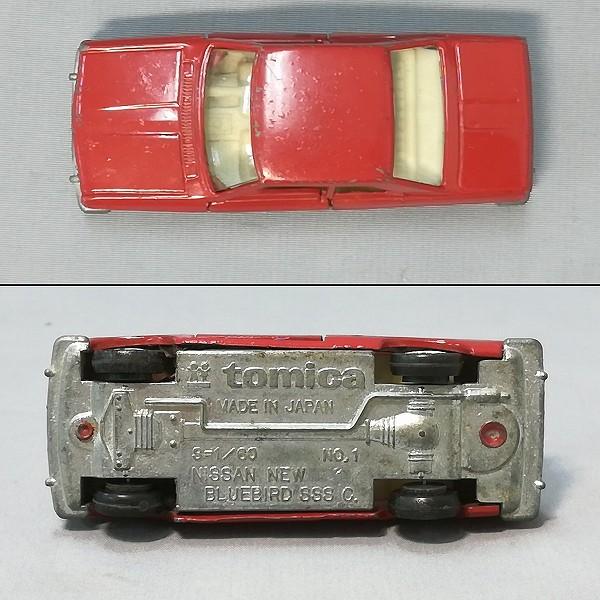トミカ 1-1-4 ブルーバード SSS クーペ 赤 1A ホイール 日本製_3