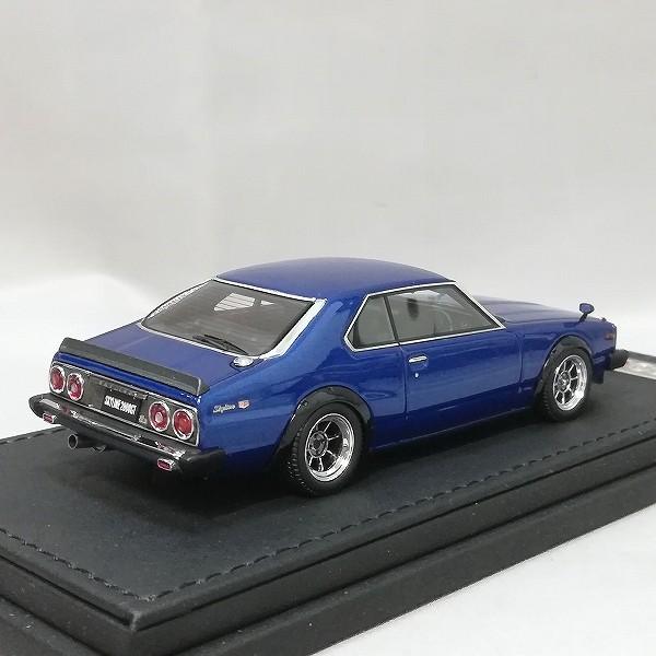 イグニッションモデル 1/43 スカイライン 2000 GT-ES C210 ブルー_3