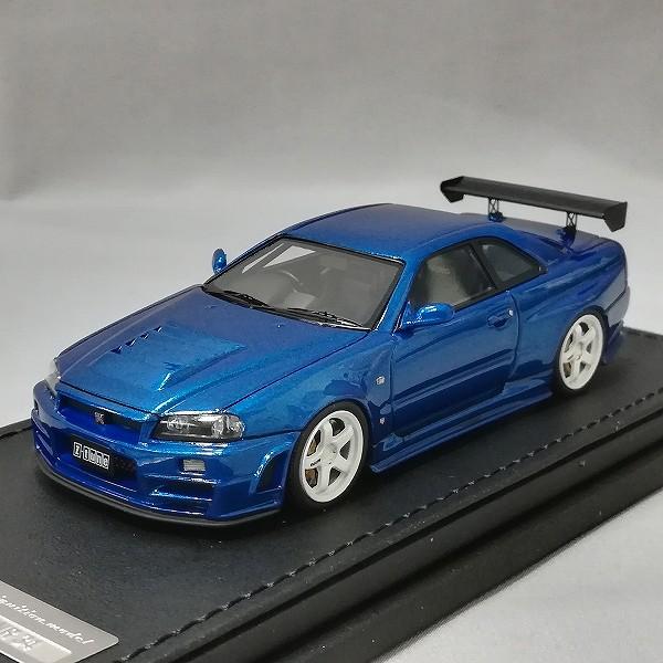 イグニッションモデル 1/43 ニスモ R34 GT-R Z-tune ベイサイドブルー_2