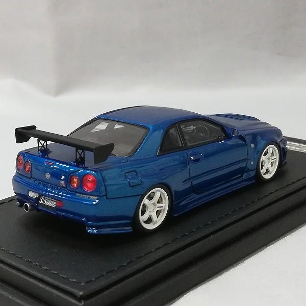 イグニッションモデル 1/43 ニスモ R34 GT-R Z-tune ベイサイドブルー_3