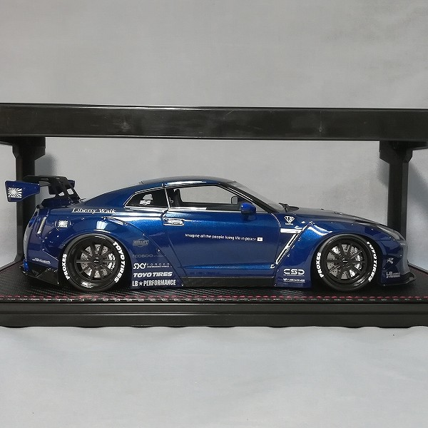 イグニッションモデル 1/18 LB-WORKS GT-R R35 ブルーメタリック_2
