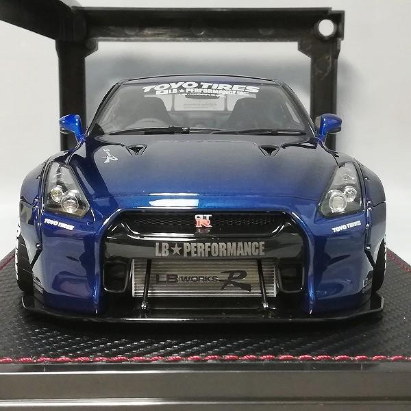 イグニッションモデル 1/18 LB-WORKS GT-R R35 ブルーメタリック_3