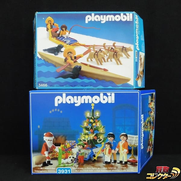 プレイモービル 3466 エスキモーの犬ぞり 3931 クリスマスルーム