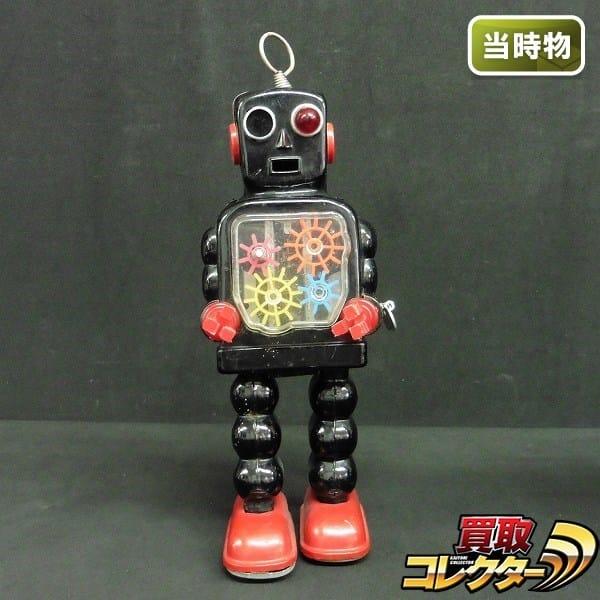 吉屋 ヨシヤ ゼンマイ ブリキ ハイホイール ロボット 当時物